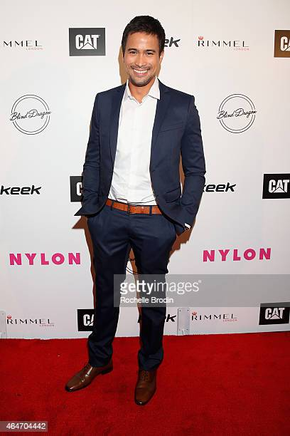 Actor/singer Sam Milby attends NYLON Magazine's Spring Fashion Issue Celebration hosted by Rita Ora at Blind Dragon on February 27, 2015 in West...