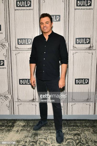 Actor/singer Seth MacFarlane visits Build to discuss his fourth studio album 'In Full Swing' at Build Studio on December 18 2017 in New York City