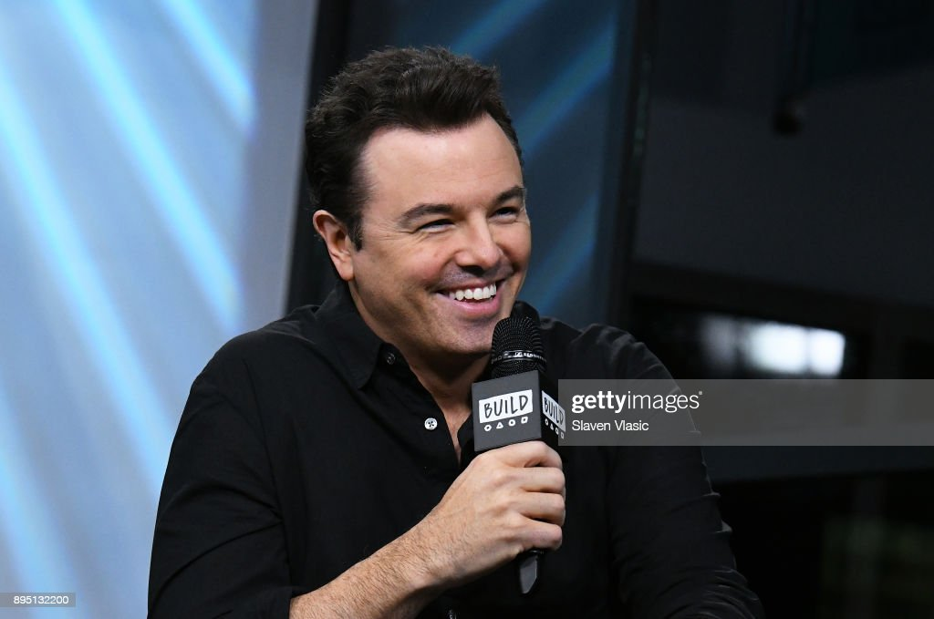 Actor/singer Seth MacFarlane visits Build to discuss his fourth studio album 'In Full Swing' at Build Studio on December 18, 2017 in New York City.