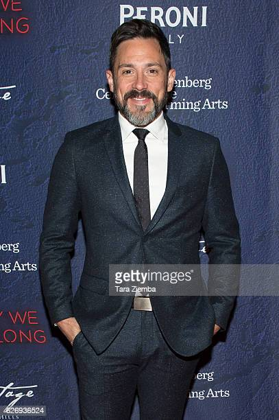 Actor/singer Steve Kazee attends opening night of Stephen Sondheim's 'Merrily We Roll Along' at Wallis Annenberg Center for the Performing Arts on...