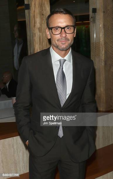 Actor/singer Tim McGraw attends the world premiere after party for The Shack hosted by Lionsgate at Gabriel Kreuther on February 28 2017 in New York...