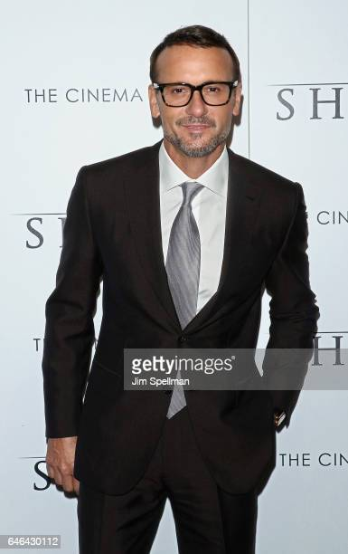 Actor/singer Tim McGraw attends the world premiere of 'The Shack hosted by Lionsgate at Museum of Modern Art on February 28 2017 in New York City