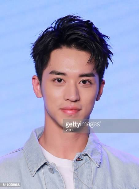 Actor/singer Timmy Xu Weizhou attends a press conference of director Charles Martin's film 'SMART Chase' on August 30 2017 in Beijing China