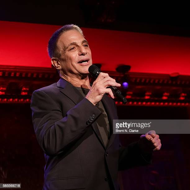 Actor/singer Tony Danza performs on stage during the Feinstein's/54 Below press preview held at 54 Below on August 3 2016 in New York City