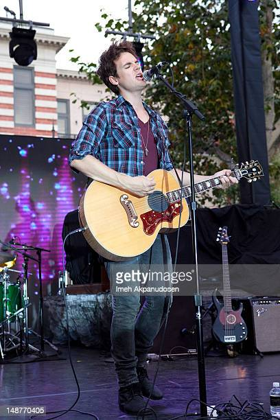 Actor Singer Tyler Hilton Performs At The 2nd Annual Summer Concert Series At The Grove