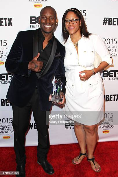Actor/singer Tyrese Gibson and Senior Manager Brand Solutions/Integrated Marketing at BET Kimberly King attend the 2015 Community Impact Awards...