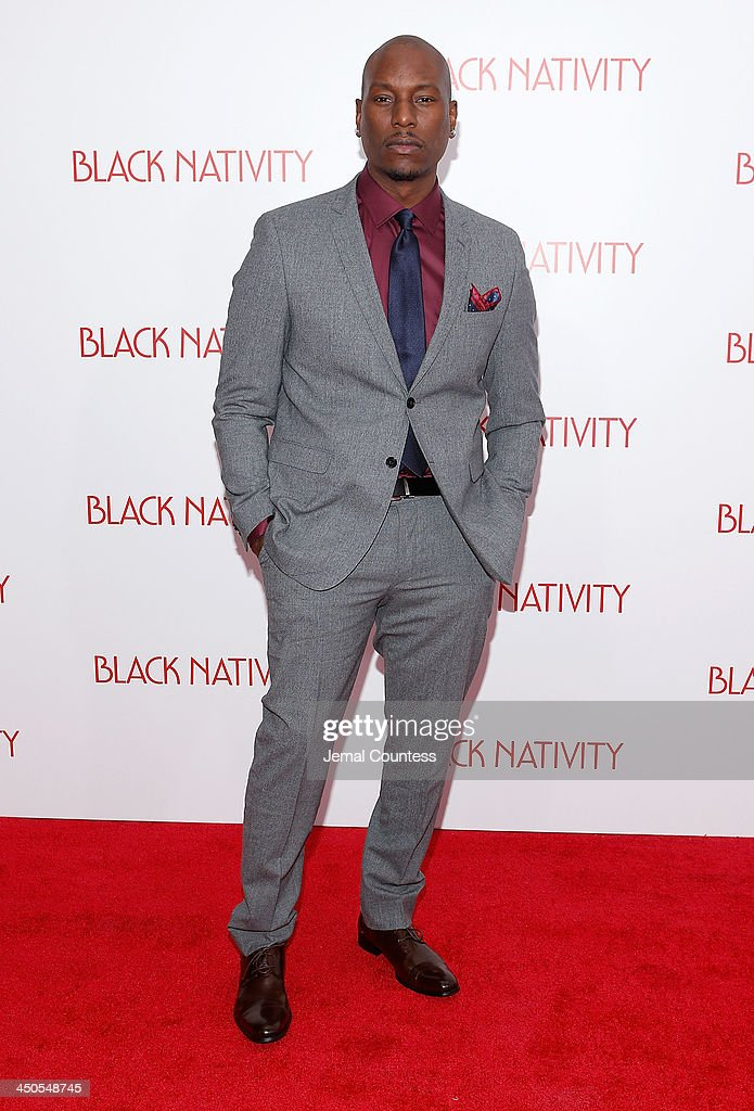 Actor/singer Tyrese Gibson attends the 'Black Nativity' premiere at The Apollo Theater on November 18, 2013 in New York City.