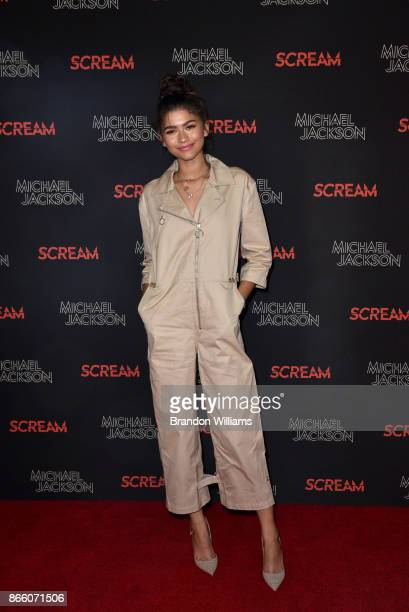 Actor/singer Zendaya attends SCREAM presented by the estate of Michael Jackson and Sony Music Publishing at TCL Chinese 6 Theatres on October 24 2017...