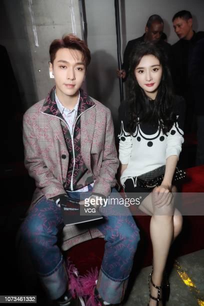 Actor/singer Zhang Yixing and actress Yang Mi attend the Valentino TKY 2019 Pre-Fall Show at Terada Warehouse on November 27, 2018 in Tokyo, Japan.