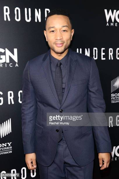 Actor/Singer/Executive producer John Legendattends WGN America's Underground Season Two Premiere Screening at Regency Village Theatre on March 1 2017...