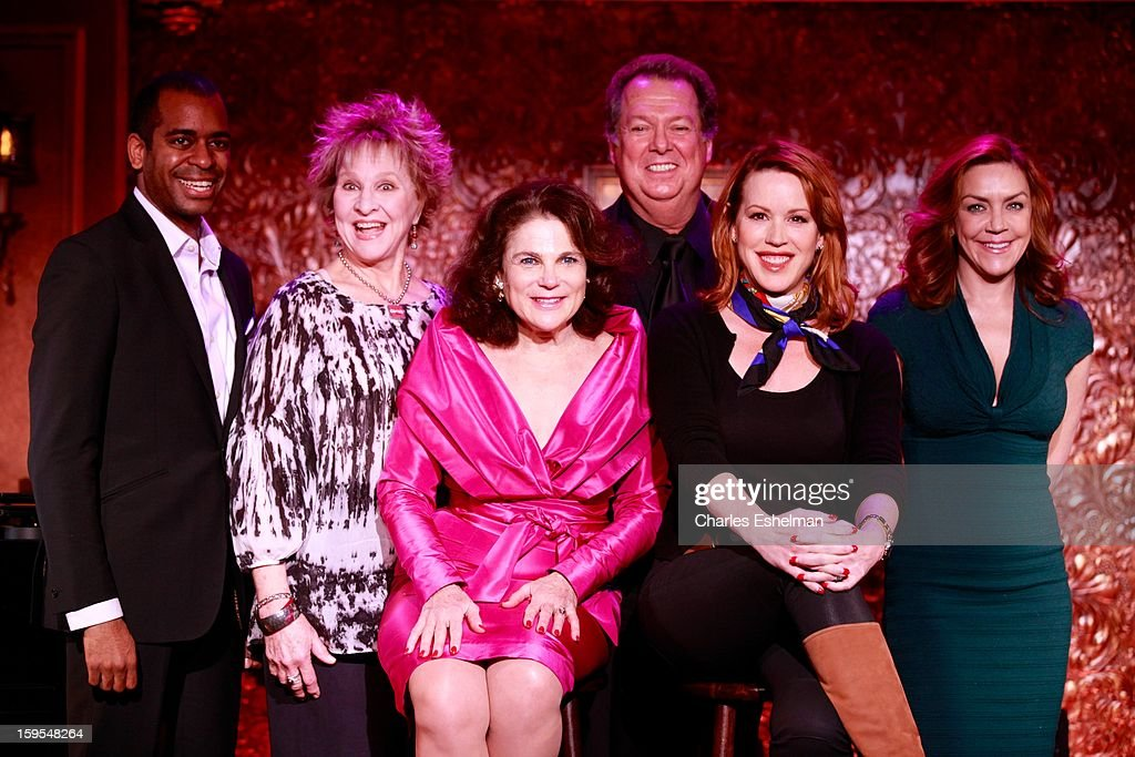 Actor/singers Daniel Breaker, Pamela Myers, Tovah Feldshuh, Eric Michael Gillett, Molly Ringwald and Andrea McArdle visit at 54 Below on January 15, 2013 in New York City.