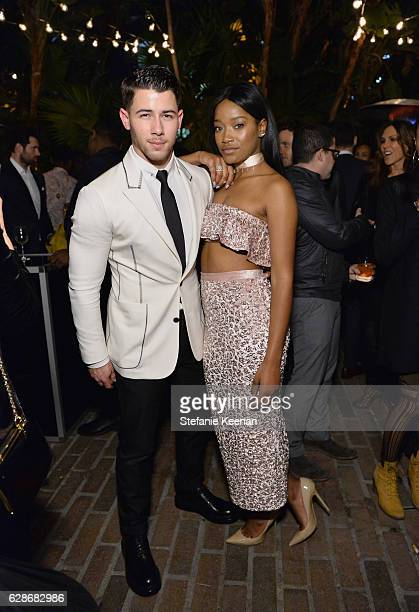Actor/singers Nick Jonas and Keke Palmer attend the 2016 GQ Men of the Year Party at Chateau Marmont on December 8 2016 in Los Angeles California