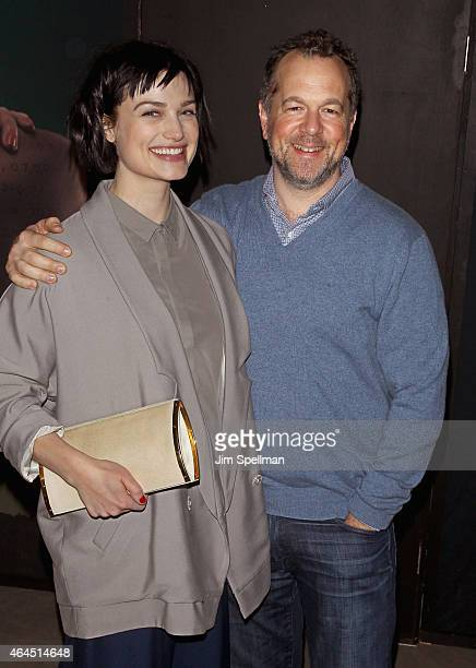 Actor/singer/songwriter Alison Sudol and David Costabile attend the Dig Escape The Room event at 22 Little West 12th on February 26 2015 in New York...