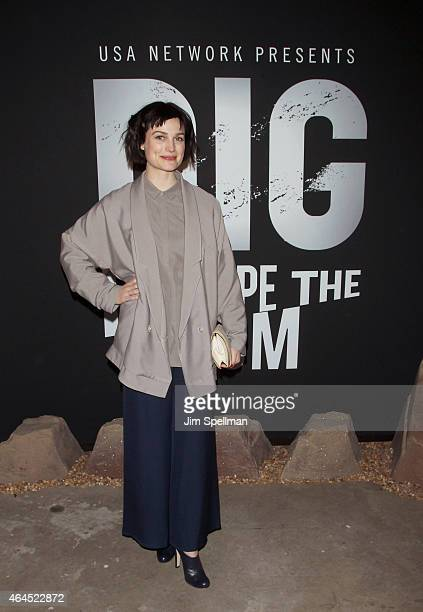 Actor/singer/songwriter Alison Sudol attends the Dig Escape The Room event at 22 Little West 12th on February 26 2015 in New York City and