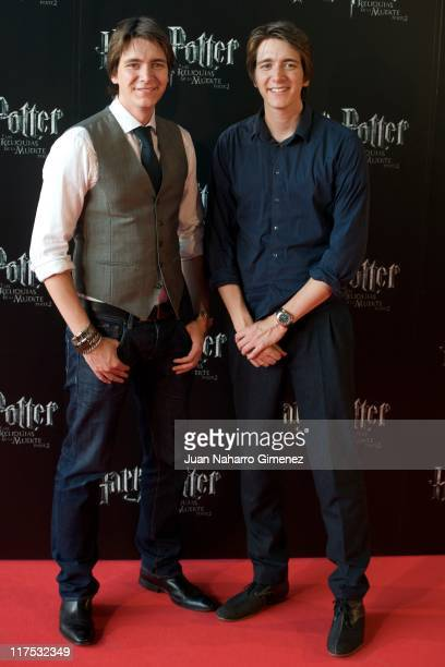 ActorsJames Phelps and Oliver Phelps attend 'Harry Potter and The Deathly Hallows Part 2' premiere at Kinepolis Cinema on June 27 2011 in Madrid Spain