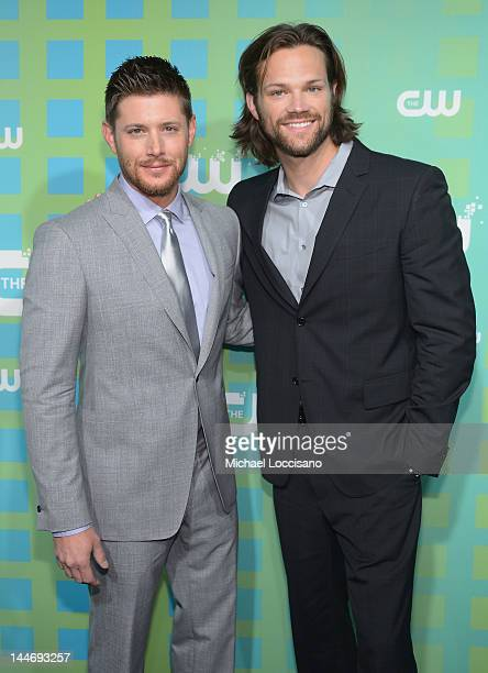 ActorsJensen Ackles and Jared Padalecki attend The CW Network's New York 2012 Upfront at New York City Center on May 17 2012 in New York City
