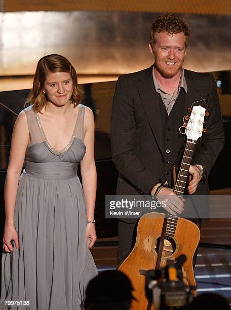 TELECAST*** Actors/musicians Marketa Irglova and Glen Hansard perform their song from Once during the 80th Annual Academy Awards held at the Kodak...