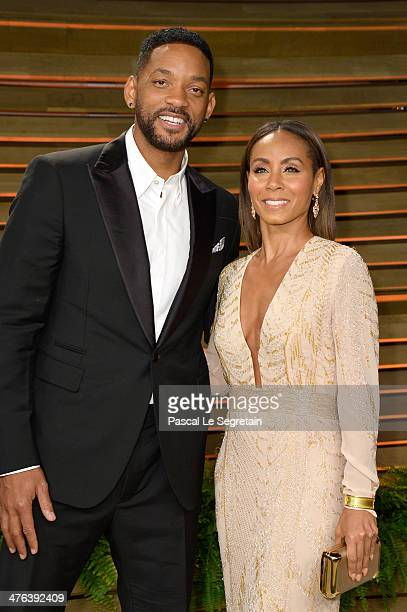 Actors/musicians Will Smith and Jada Pinkett Smith attends the 2014 Vanity Fair Oscar Party hosted by Graydon Carter on March 2 2014 in West...