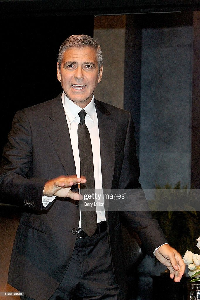 Actor/social activist George Clooney speaks during 'A
