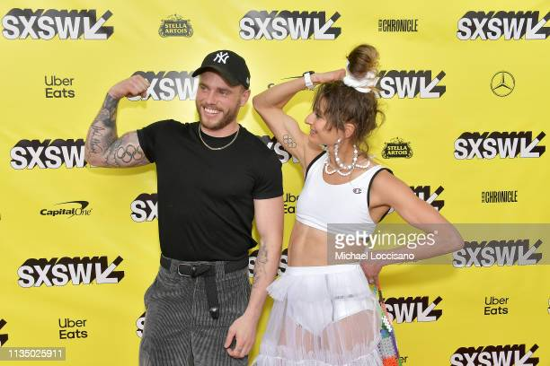 Actors/Olympic athletes Gus Kenworthy and Alexi Pappas attend the 'Olympic Dreams' premiere during the 2019 SXSW Conference and Festivals at ZACH...
