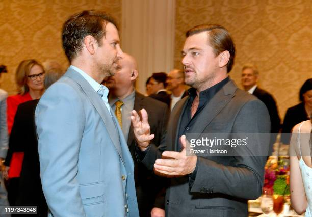 Actors-producers Bradley Cooper and Leonardo DiCaprio attend the 20th Annual AFI Awards at Four Seasons Hotel Los Angeles at Beverly Hills on January...