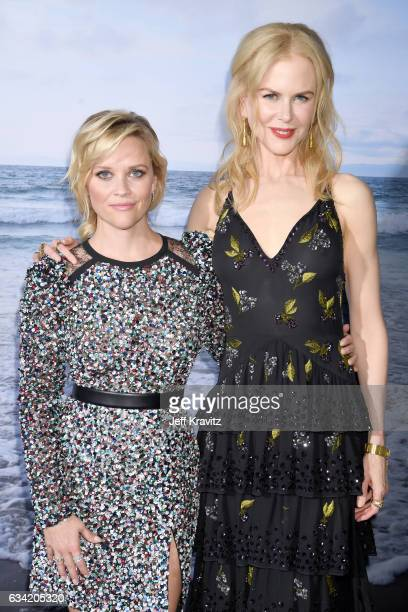 Actors/producers Reese Witherspoon and Nicole Kidman attend the premiere of HBO's 'Big Little Lies' at the TCL Chinese Theater on February 7 2017 in...