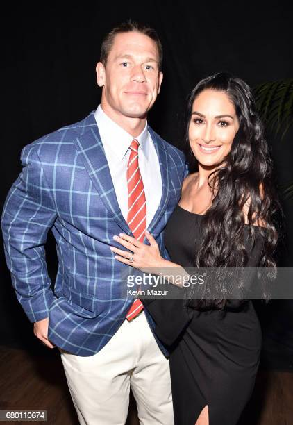 Actorsprofessional wrestlers John Cena and Nikki Bella attend the 2017 MTV Movie And TV Awards at The Shrine Auditorium on May 7 2017 in Los Angeles...