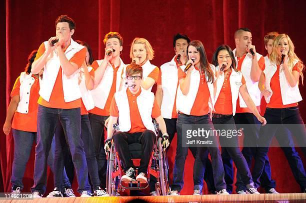 Actors/singers Cory Monteith, Chris Colfer, Kevin McHale, Dianna Agron, Harry Shum Jr., Lea Michele, Jenna Ushkowitz, Mark Salling and Heather Morris...