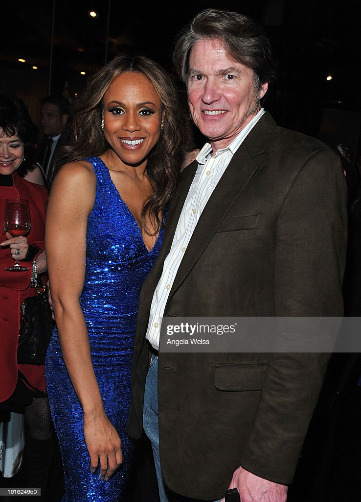 Actors/singers Deborah Cox and Richard White attend the opening night after party of 'Jekyll & Hyde' held at Beso on February 12, 2013 in Hollywood, California.