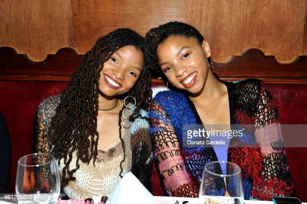 Actors/singers Halle Bailey and Chloe Bailey attend the Coach Rodarte celebration for their Spring 2017 Collaboration at Musso Frank on March 30 2017...