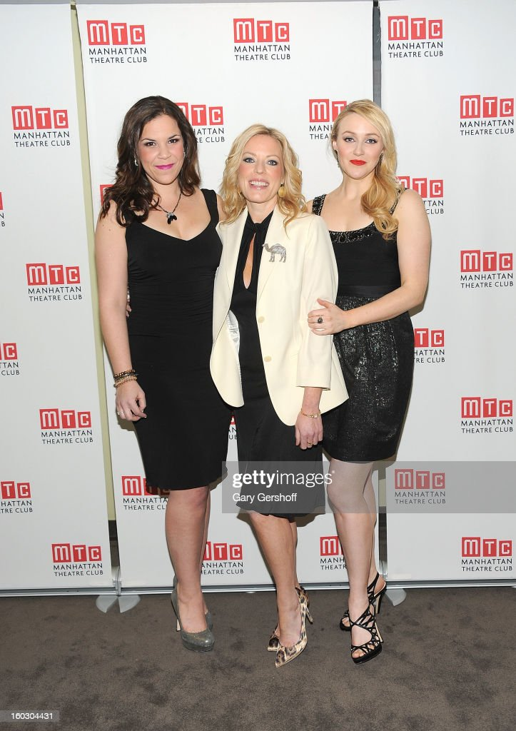 Actors/singers Lindsay Mendez, Sherie Rene Scott and Betsy Wolfe attend the 2012 Manhattan Theatre Club Benefit: An Intimate Night at Jazz at Lincoln Center on January 28, 2013 in New York City.
