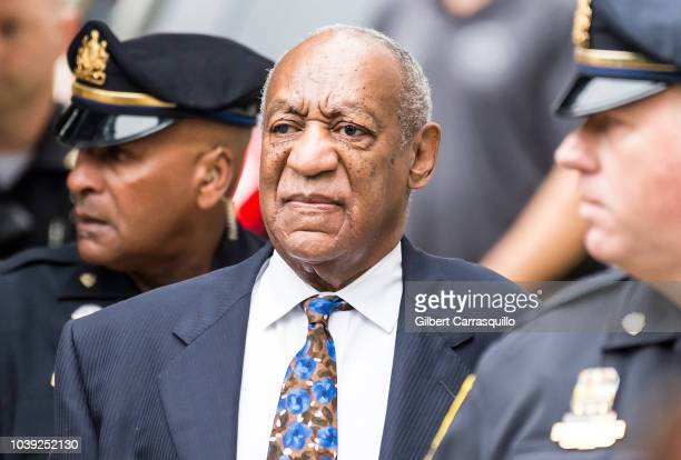 Actor/standup comedian Bill Cosby arrives for sentencing for his sexual assault trial at the Montgomery County Courthouse on September 24 2018 in...