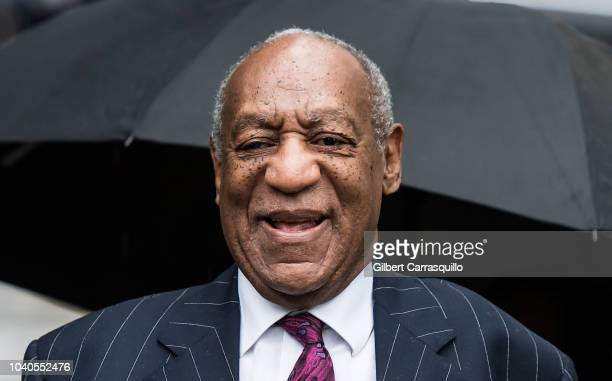 Actor/standup comedian Bill Cosby arrives for sentencing for his sexual assault trial at the Montgomery County Courthouse on September 25 2018 in...