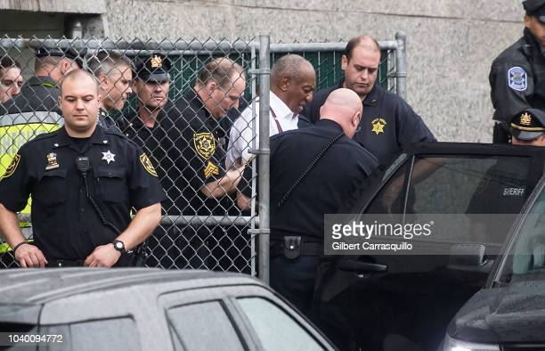 Actor/standup comedian Bill Cosby is taken out of to the Montgomery County Courthouse to state prison in shackles after being Sentenced To 3 To 10...