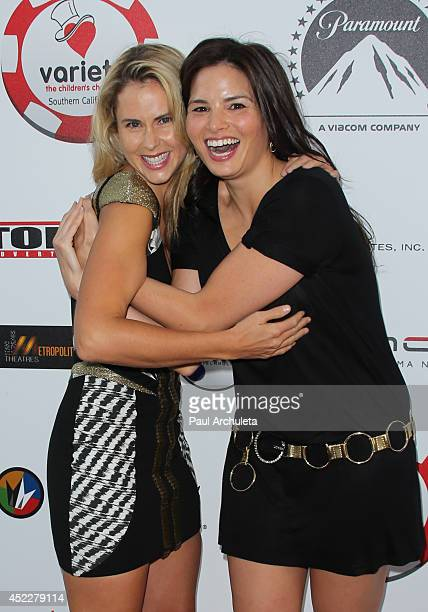 Actorts Anna Hutchison and Katrina Law attend the 4th annual Variety's Texas Hold 'Em poker tournament at to benefit The Children's Charity Of...
