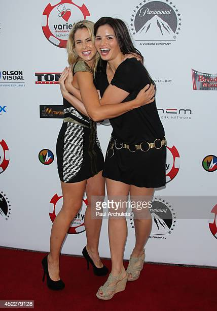 Actorts Anna Hutchison and Katrina Law attend the 4th annual Variety's Texas Hold 'Em poker tournament at to benefit 'The Children's Charity Of...