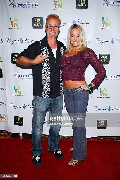 Actor/TV host George Gray and actress Bobbi Billard arrive at the 2nd Annual All In For The Kids benefit celebrity poker tournament at the Crystal...