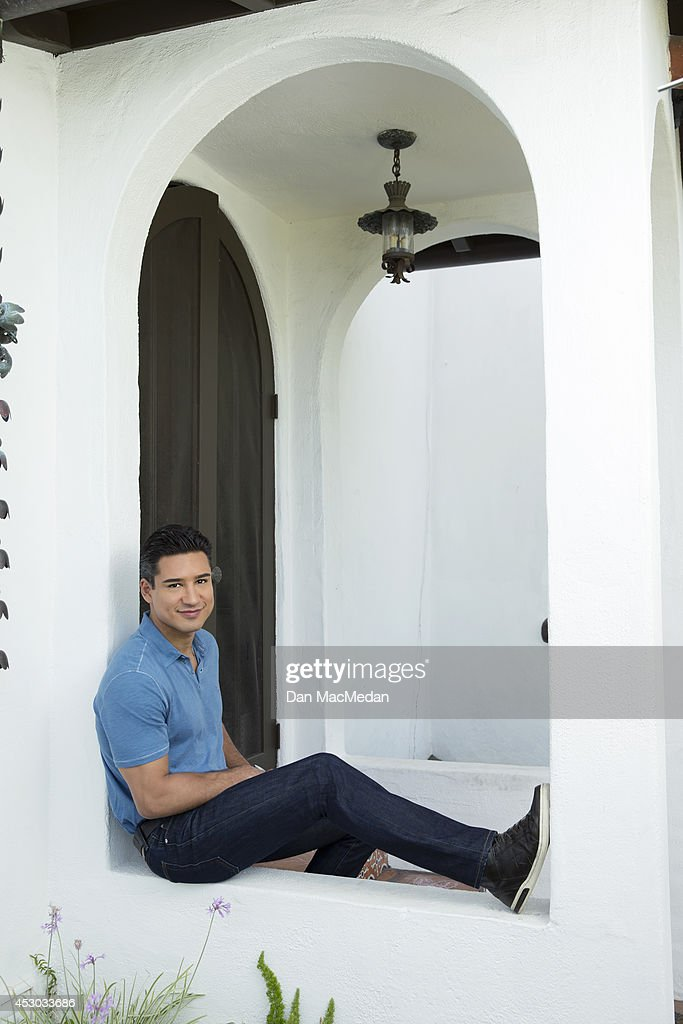 Actor/TV host, Mario Lopez is photographed for USA Today's Back To School Magazine on July 15, 2014 in Glendale, California.