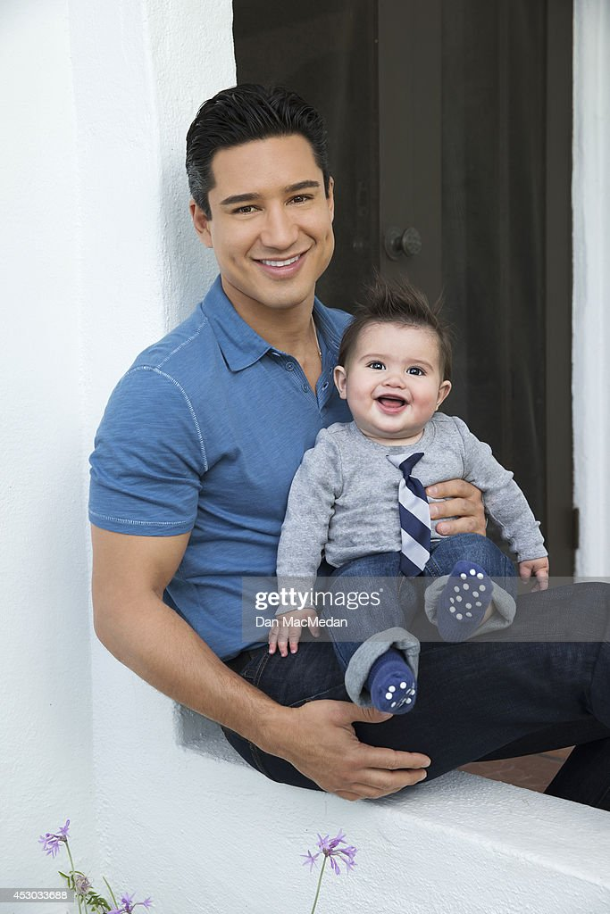 Actor/TV host, Mario Lopez is photographed holding his son Dominic for USA Today's Back To School Magazine on July 15, 2014 in Glendale, California.