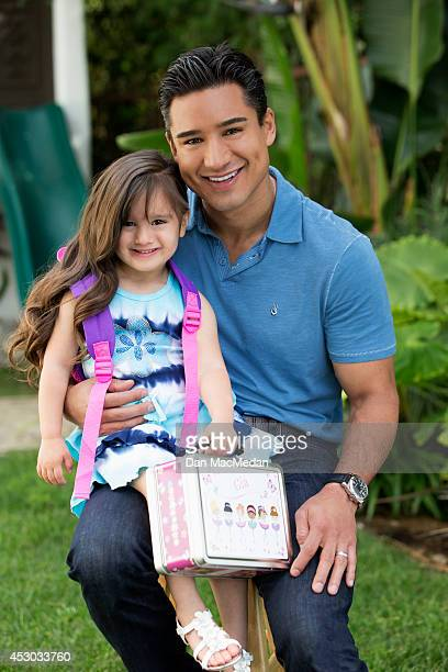 Actor/TV host, Mario Lopez is photographed with his daughter Gia for USA Today's Back To School Magazine on July 15, 2014 in Glendale, California.