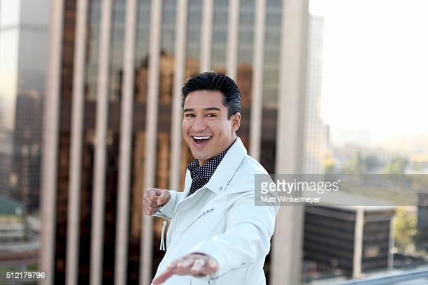 Actor/TV Personality Mario Lopez poses during a photo shoot for LaPalme Magazine at The Emerson on February 24 2016 in Los Angeles California