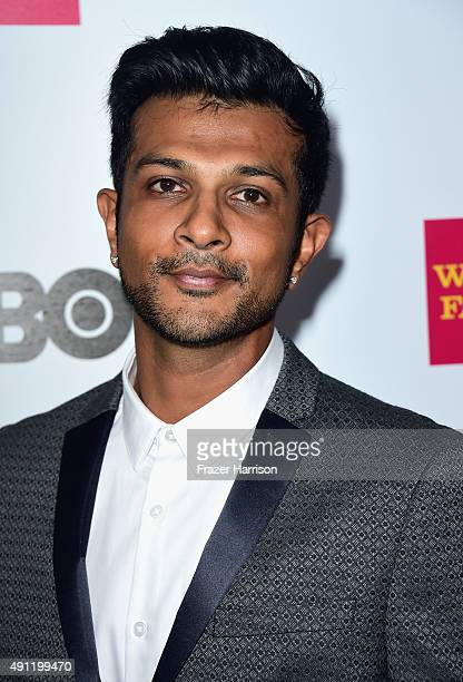 ActorUtkarsh Ambudkar arrives at the Point Foundation's Voices On Point Gala at the Hyatt Regency Century Plaza on October 3 2015 in Century City...