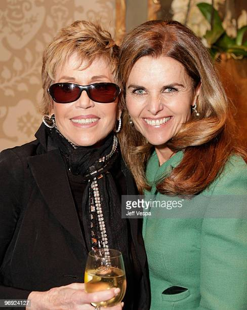 Actor/VDay Board Member Jane Fonda and California's First Lady Maria Shriver attend VDay's 4th Annual LA Luncheon featuring a reading of Eve Ensler's...