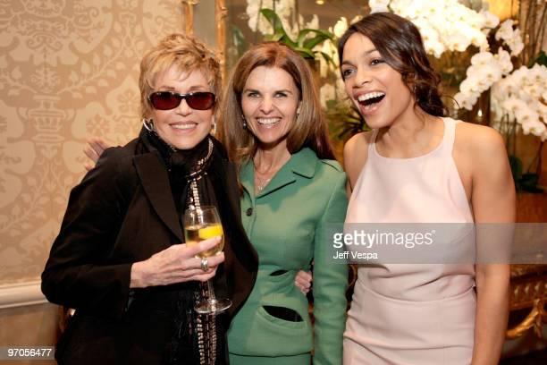 Actor/VDay Board Member Jane Fonda California's First Lady Maria Shriver and actor/VDay Board Member Rosario Dawson attend VDay's 4th Annual LA...