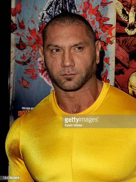 Actor/wrestler Dave Bautista arrives at a special screening of Universal Pictures' 'The Man With The Iron Fists' at the Chinese 6 Theatres on October...
