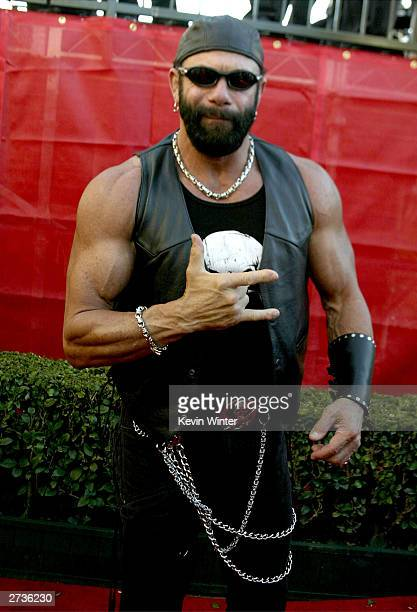 Actor/Wrestler Randy Savage attends the 31st Annual American Music Awards held on November 16 2003 at The Shrine Auditorium in Los Angeles California