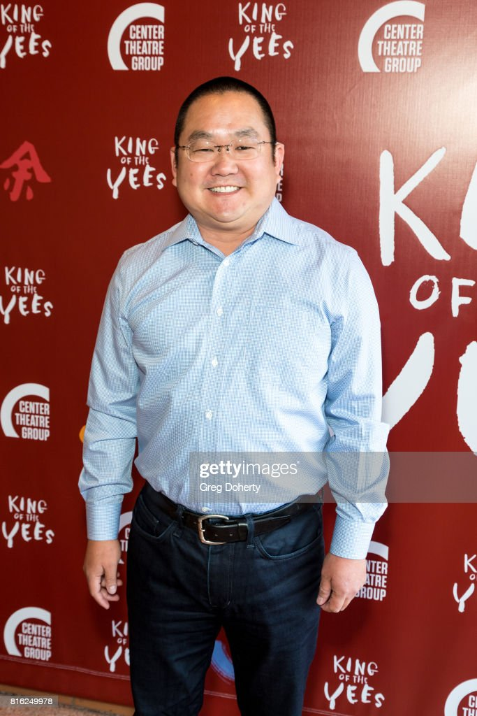 Actor/Writer Aaron Takahashi attends the Opening Night Of 'King Of The Yees' at the Kirk Douglas Theatre on July 16, 2017 in Culver City, California.