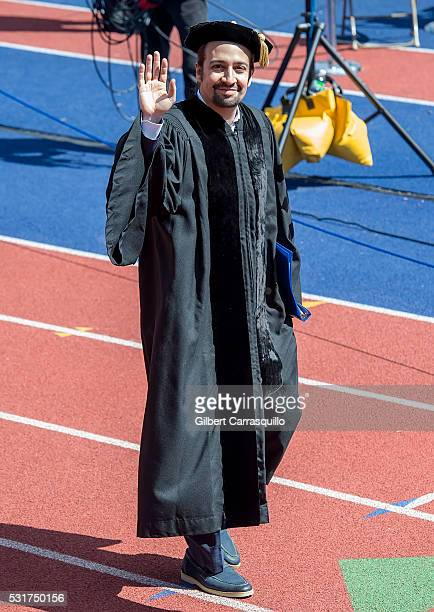 Actor/writer and recipient of Doctor of Arts honorary degree Lin Manuel Miranda delivers University Of Pennsylvania Commencement keynote address...
