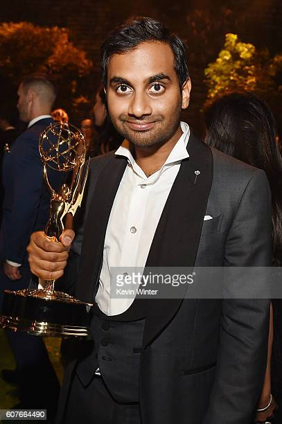 Actor/writer Aziz Ansari, winner of Outstanding Writing for a Comedy Series for 'Master of None,' attends the 68th Annual Primetime Emmy Awards...