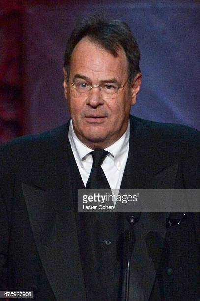 Actor/writer Dan Aykroyd speaks onstage during the 2015 AFI Life Achievement Award Gala Tribute Honoring Steve Martin at the Dolby Theatre on June 4,...